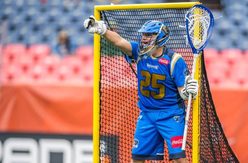 Charlie Cipriano with the Charlotte Hounds at Denver Outlaws. Photography Credit: Ron Chenoy