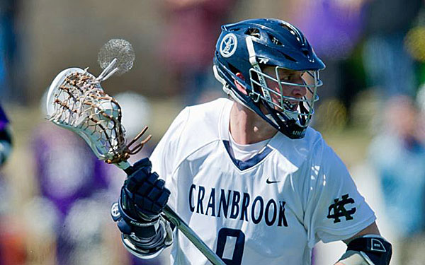 Matthew Giampetroni tallied 455 career points with Cranbrook School.