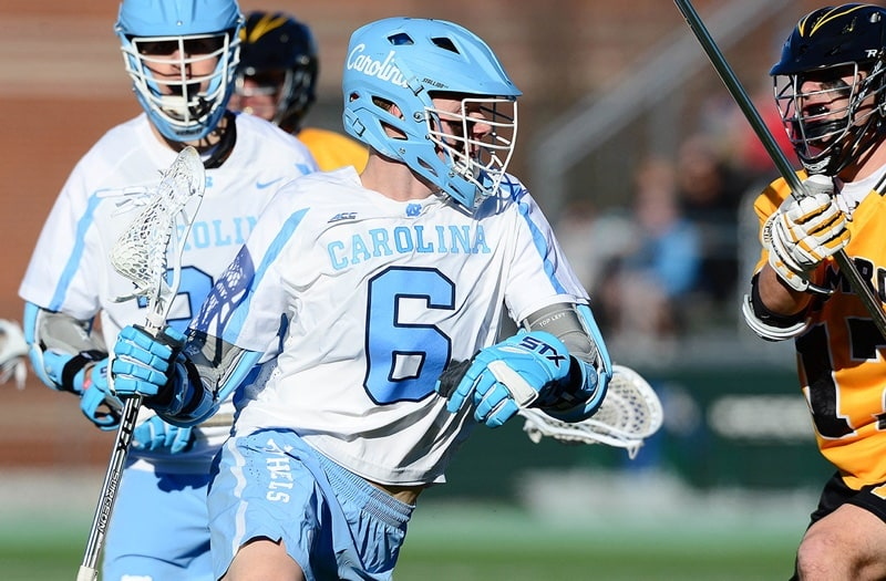 Justin Anderson has the second-most career goals in high school lacrosse history. Photo courtesy: UNC Athletics