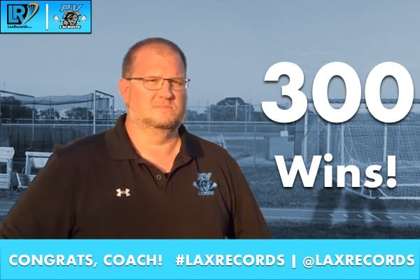 Ponte Vedra head coach Tom West won his 300th career game on Monday, Feb. 6.