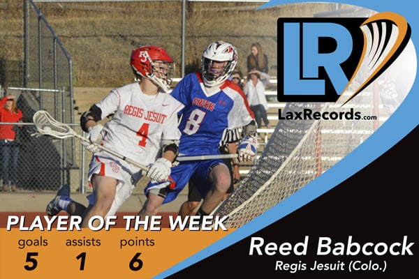 Reed Babcock is the LaxRecords.com Player of the Week for March 20, 2017.