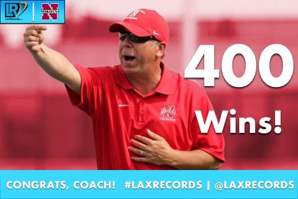 Mike Vorgang won the 400th game of his career on Monday, April 10, 2017