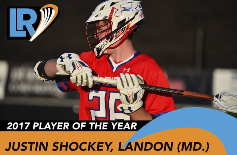 Justin Shockey is LaxRecords.com's 2017 Player of the Year.