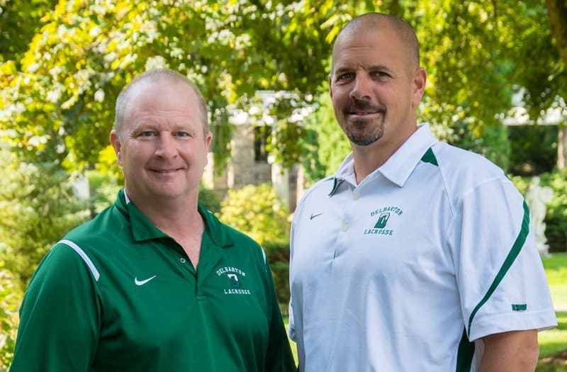Chuck Ruebling (left) coached 31 years at Delbarton School. Matt Kovachik (right) takes over as head coach. Photo by Delbarton School