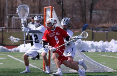 Jacob Kelly from Calvert Hall (Md.) playing against Malvern Prep (Pa.) in 2018. Photo courtesy Calvert Hall Athletics