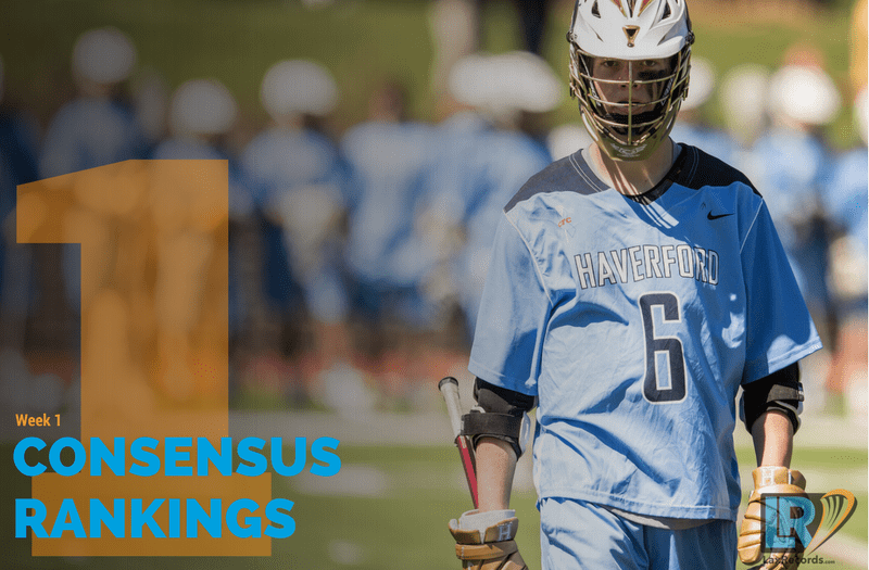 Click to read about the Week 1 Consensus Rankings by LaxRecords.com.