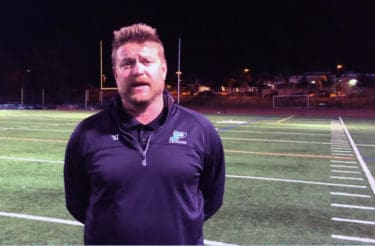 Poway (Calif.) head coach Zack Burke won the 100th game of his high school lacrosse career on March 2, 2018.