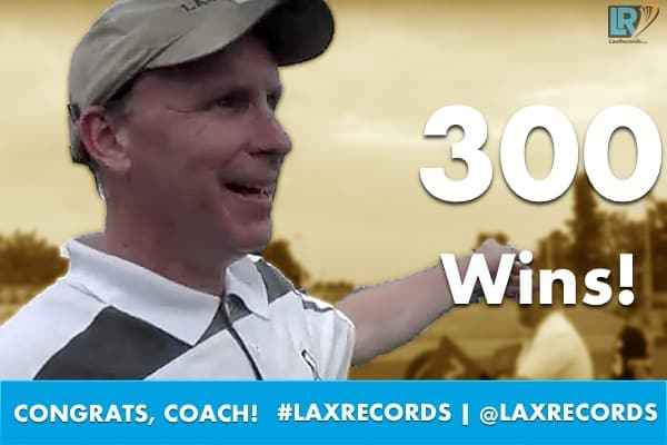 John Hayden won the 300th game of his career with Apex (N.C.).