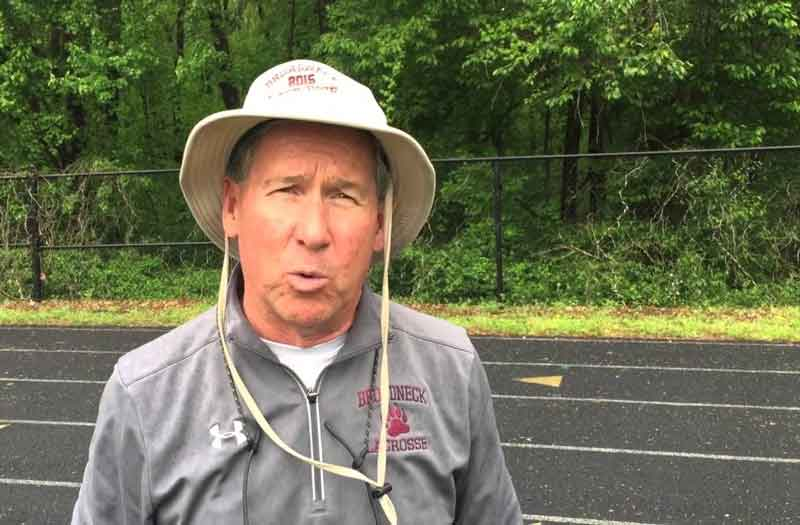 Broadneck head coach Clay White will retire following the 2019 high school lacrosse season.