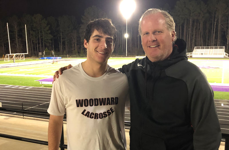 Eric Malever from Woodward Academy (Ga.) scored the 300th point of his career.