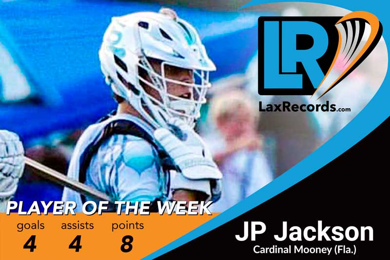 Jackson totaled eight points as Cardinal Mooney defeated Lake Highland Prep (Fla.) 17-15 last week.