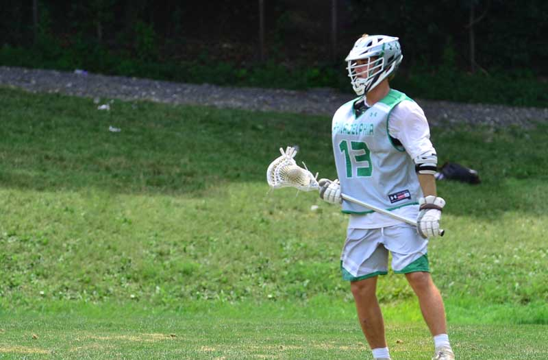 Mac Costin from Haverford School (Pa.) at the 2018 Under Armour Underclassmen tournament. Photo by Mike Loveday