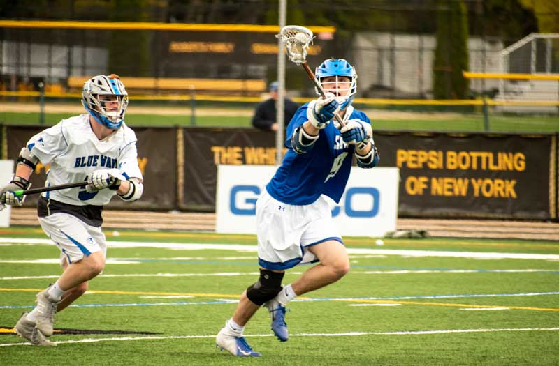 Thomas Colucci from Seton Hall Prep (N.J.) at the GEICO Lacrosse Showcase. Photo by Mike Loveday