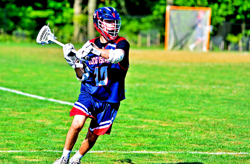 Christian Mule from Half Hollow Hills West (N.Y.) at the 2018 Under Armour underclassmen games. Photo by Mike Loveday