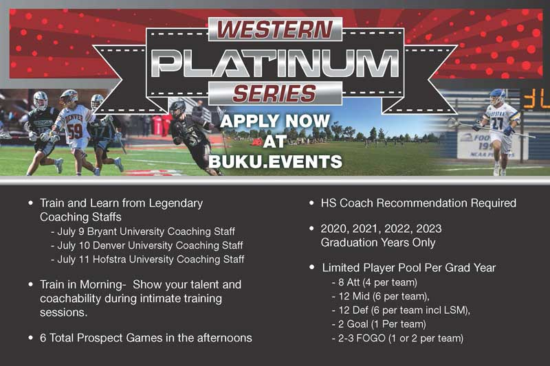 The Western Platinum series offers the unique ability for high level training and serious recruiting by the three NCAA Division 1 programs.