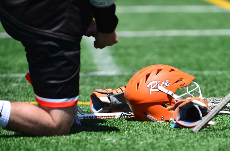 Brother Rice helmet. Photo by Mike Loveday