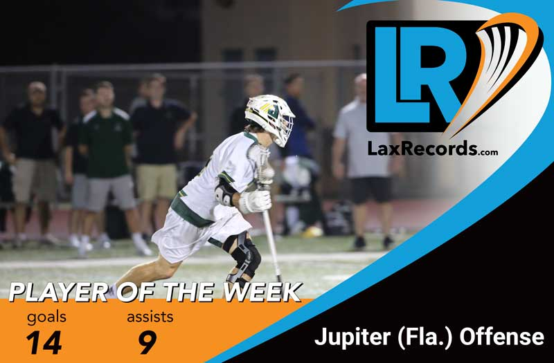 The Jupiter (Fla.) offense earned a collective Player of the Week honor after winning in overtime to reach the state semifinals. Photo courtesy Jupiter Athletics